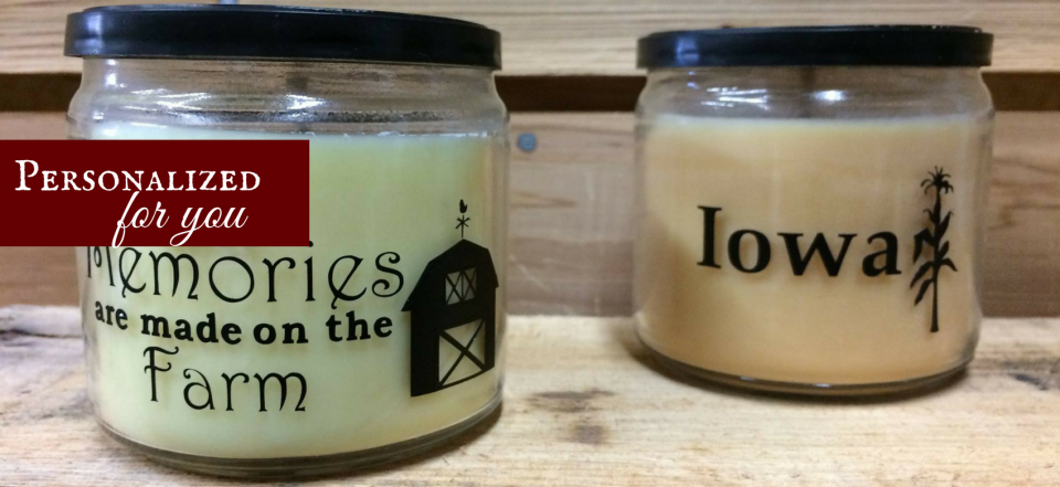 Add your Special touch to any of our Farming Soywax Candles